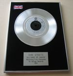 DIRE STRAITS - SULTAN OF SWING PLATINUM Single Presentation DISC
